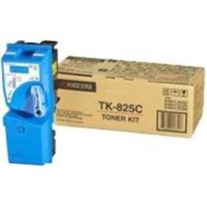 Kyocera TK825C Cyan Toner Cartridge, 7K Page Yield