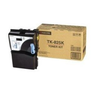Kyocera TK825K Black Toner Cartridge, 15K Page Yield