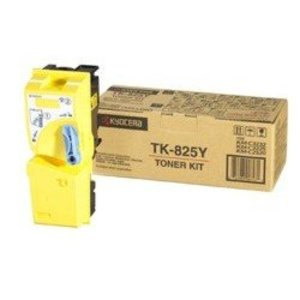 Kyocera TK825Y Yellow Toner Cartridge, 7K Page Yield