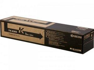 Kyocera TK8305K Black Toner Cartridge, 25K Page Yield