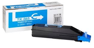 Kyocera TK865C Cyan Toner Cartridge, 12K Page Yield
