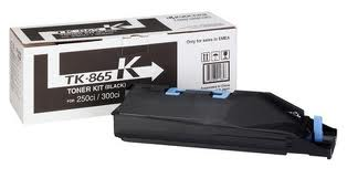 Kyocera TK865K Black Toner Cartridge, 20K Page Yield