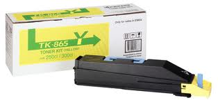 Kyocera TK865Y Yellow Toner Cartridge, 12K Page Yield
