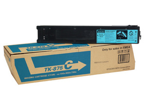 Kyocera TK875C Cyan Toner Cartridge, 31.8K Page Yield