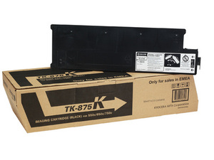 Kyocera TK875K Black Toner Cartridge, 87.6K Page Yield