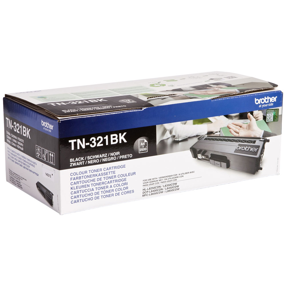 Brother Black Toner Cartridge - TN-321BK, 2.5K Page Yield