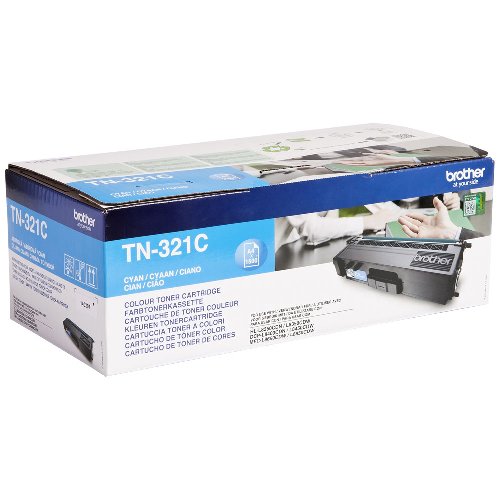 Brother Cyan Toner Cartridge - TN-321C, 1.5K Page Yield