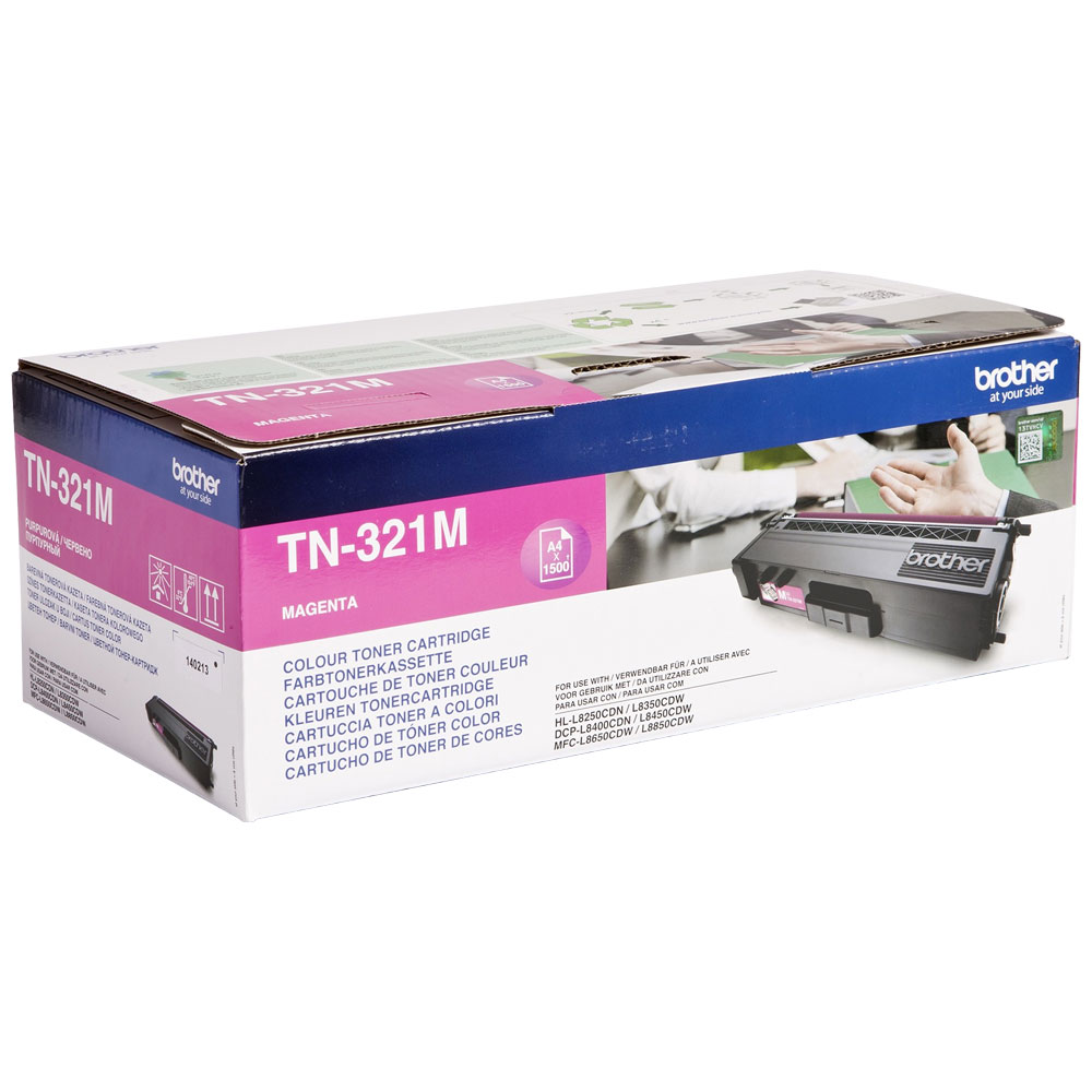 Brother Magenta Toner Cartridge - TN-321M, 1.5K Page Yield