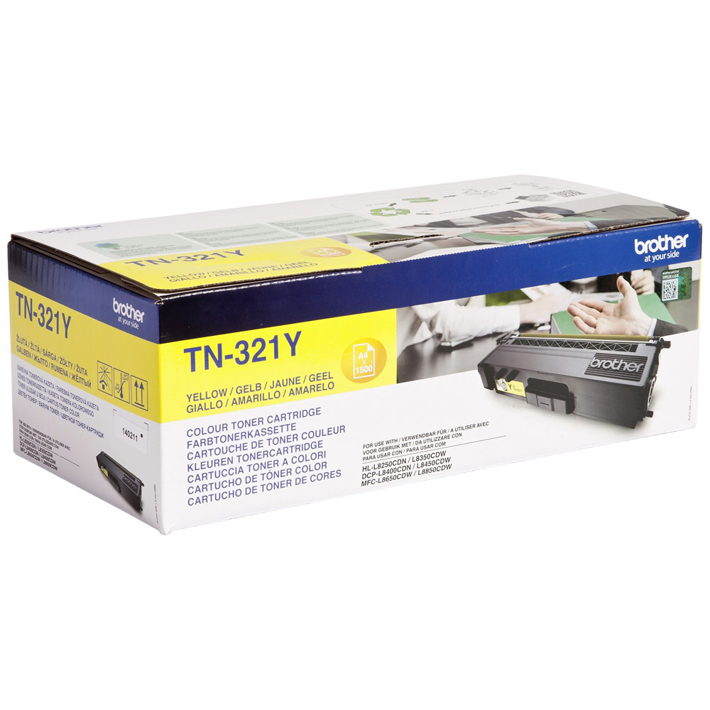 Brother Yellow Toner Cartridge - TN-321Y, 1.5K Page Yield