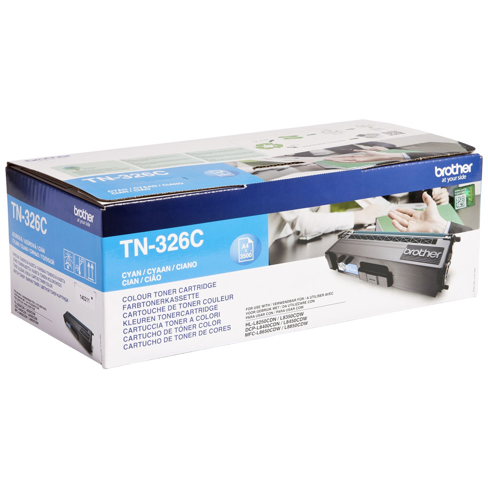 Brother High Capacity Cyan Toner Cartridge - TN-326C, 3.5K Page Yield