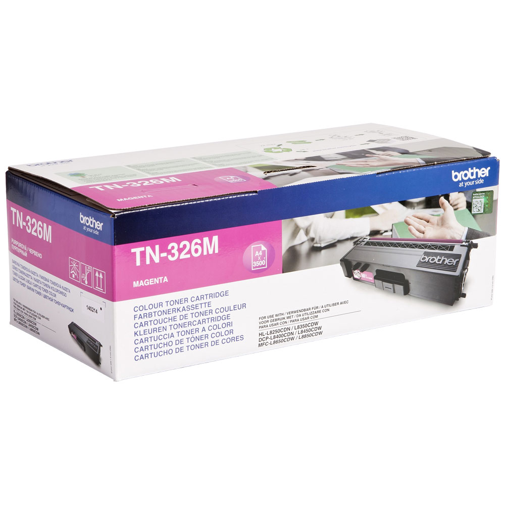 Brother High Capacity Magenta Toner Cartridge - TN-326M, 3.5K Page Yield