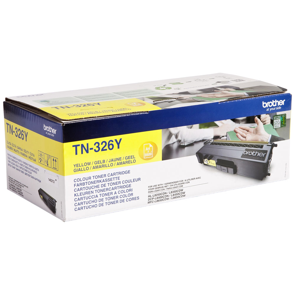 Brother High Capacity Yellow Toner Cartridge - TN-326Y, 3.5K Page Yield