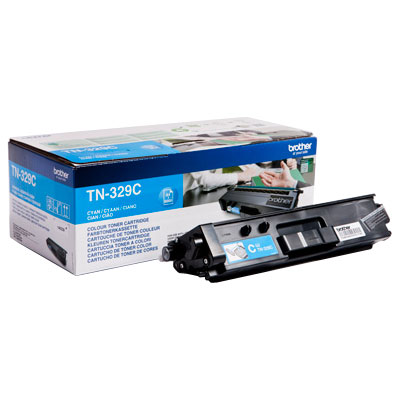 Brother Extra High Capacity Cyan Toner Cartridge - TN-329C, 6K Page Yield