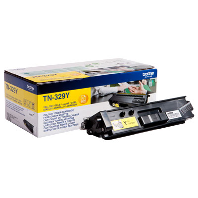 Brother Extra High Capacity Yellow Toner Cartridge - TN-329Y, 6K Page Yield