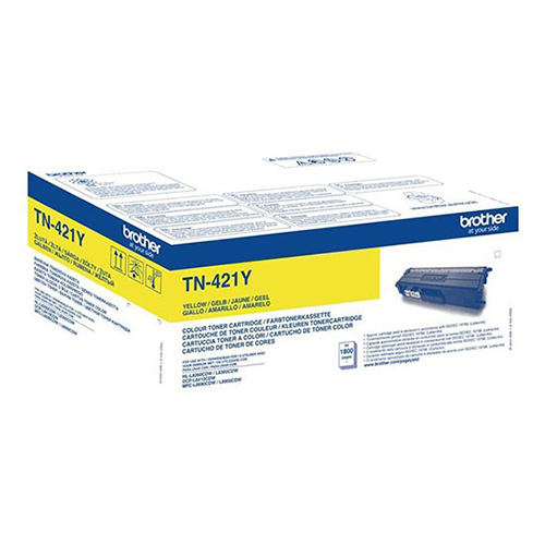 Brother Yellow Toner Cartridge - TN-421Y, 1.8K Page Yield