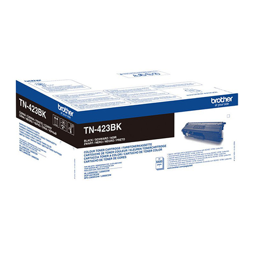 Brother High Capacity Black Toner Cartridge - TN-423BK, 6.5K Page Yield