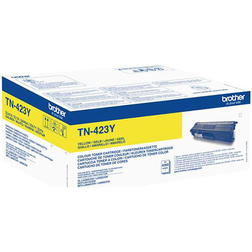 Brother High Capacity Yellow Toner Cartridge - TN-423Y, 4K Page Yield