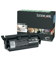 Lexmark 0X651H11E High Capacity Return Program Toner Cartridge, 25K Yield