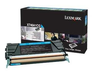 Lexmark X746A1CG Cyan (Return Program) Toner Cartridge, 7K Page Yield
