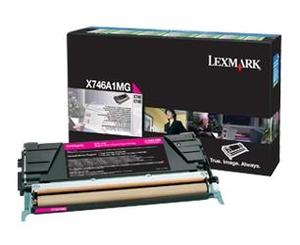 Lexmark X746A1MG Magenta (Return Program) Toner Cartridge, 7K Page Yield