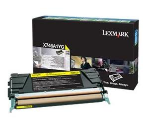 Lexmark X746A1YG Yellow (Return Program) Toner Cartridge, 7K Page Yield