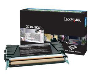 Lexmark X746H1KG Black (Return Program) Toner Cartridge, 12K Page Yield