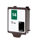 Alphajet Replacement Black Ink Cartridge (Alternative to HP No 14, C5011D)