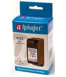 Alphajet Replacement Colour Ink Cartridge (Alternative to HP No 23, C1823D)