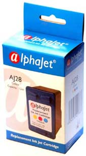 Alphajet Replacement Colour Ink Cartridge (Alternative to HP No 28, C8728A)
