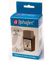 Alphajet Replacement Black Ink Cartridge (Alternative to HP No 29, 51629A)
