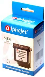 Alphajet Replacement High Capacity Black Ink Cartridge (Alternative to HP No 339, C8767E)