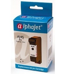 Alphajet Replacement Black Ink Cartridge (Alternative to HP No 45, 51645A)