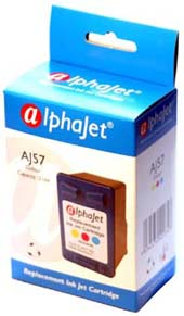 Alphajet Replacement Colour Ink Cartridge (Alternative to HP No 57, C6657A)