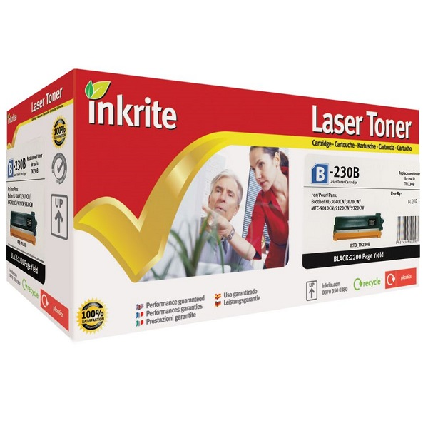 Inkrite Premium Quality Black Toner Cartridge for Brother TN-230BK