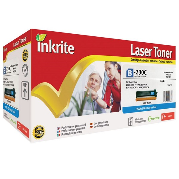 Inkrite Premium Quality Cyan Toner Cartridge for Brother TN-230C