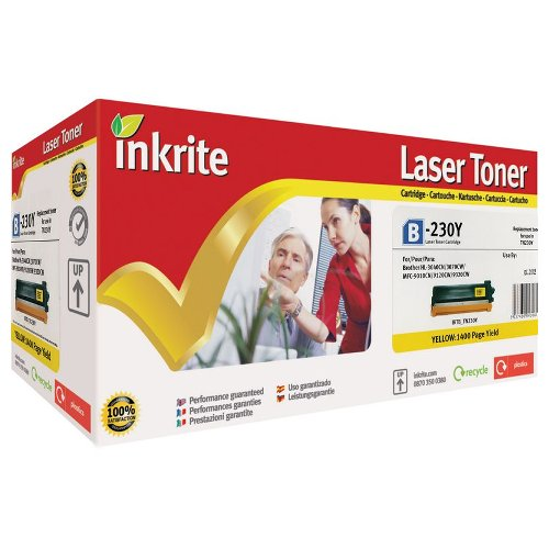 Inkrite Premium Quality Yellow Toner Cartridge for Brother TN-230Y