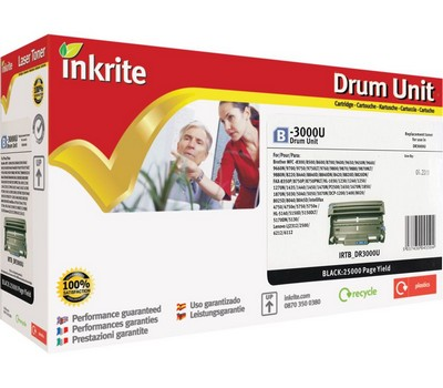 Inkrite Premium Quality Drum Unit for Brother DR-3000, 20K Page Yield