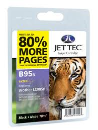 Jettec Black Ink Cartridge for LC985BK, 18ml
