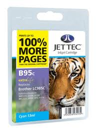 Jettec Cyan Ink Cartridge for LC985C, 13ml