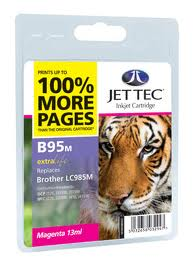 Jettec Magenta Ink Cartridge for LC985M, 13ml