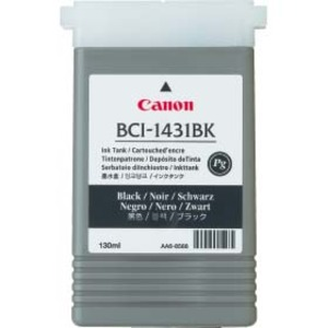 Canon BCI 1431BK Black Ink Cartridge - 8963A001AA, 130ml