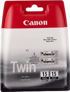 Canon BCI-15 Twin Pack Black Ink Cartridge