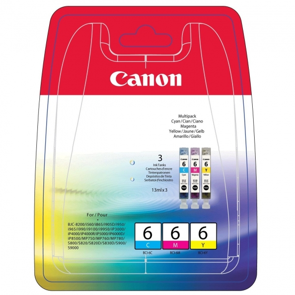 Canon BCI-6 C/M/Y Ink Cartridges