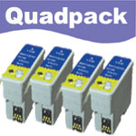 Compatible Quad Pack Black Ink Cartridges for T015401
