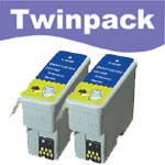 Compatible Twin Pack Black Ink Cartridges for S020093 & S020187 & T013401