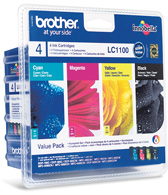 Brother LC-1100 Quad Pack Black, Cyan, Magenta, Yellow Ink Cartridges
