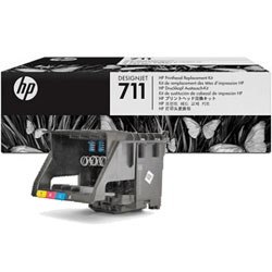 HP 711 Black, Cyan, Magenta and Yellow Printhead Cartridge - C1Q10 Designjet Ink