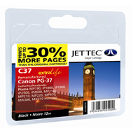 Replacement Standard Capacity Black Ink Cartridge ( PG-37 Black ) 12ml