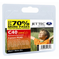 Replacement High Capacity Black Ink Cartridge ( PG-40 Black ) 26ml