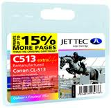 Jettec Replacement Colour Ink Cartridge for Canon CL-513, 15ml
